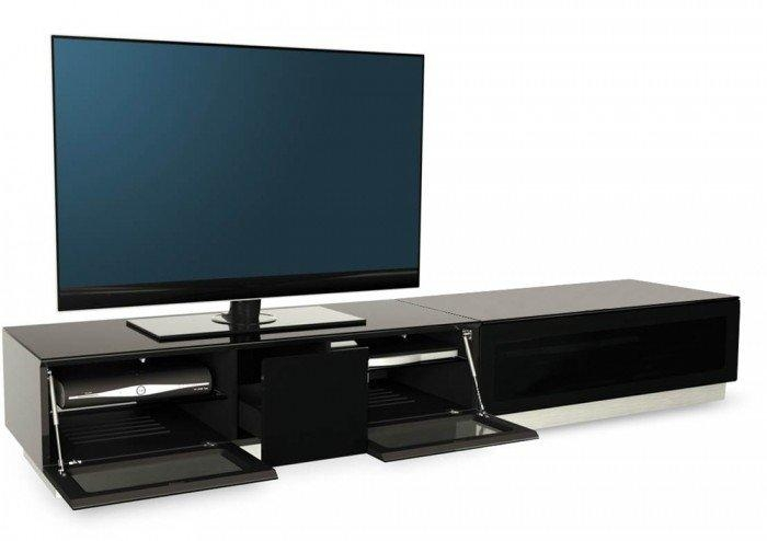 Alphason Element 2100 High Gloss Black Tv Cabinet Pertaining To Most Recent Black Gloss Tv Units (View 20 of 20)