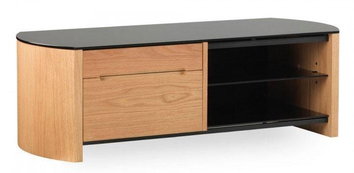 Alphason Fw1100Cb Oak Veneer Tv Stand | Ebay Inside Recent Oak Veneer Tv Stands (Image 4 of 20)
