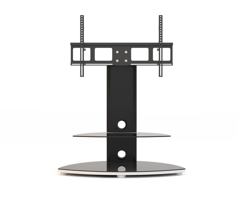 Alphason Osmium Osmb800 Black Oval Tv Stand W/ Tv Bracket Intended For 2017 Bracketed Tv Stands (Image 5 of 20)