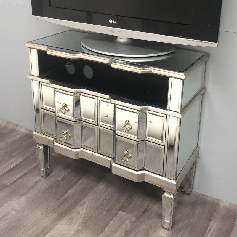 Alterton Vintage Mirrored Range Tv Stand For Tvs Up To 48 For Newest Mirrored Tv Stands (Image 1 of 20)