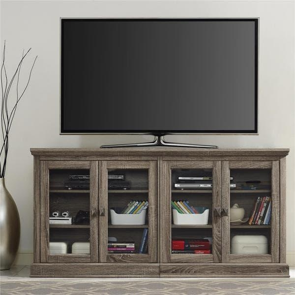 Altra Bennett 70 Inch Sonoma Oak Modern Farmhouse Tv Stand With For Best And Newest Glass And Oak Tv Stands (Image 6 of 20)