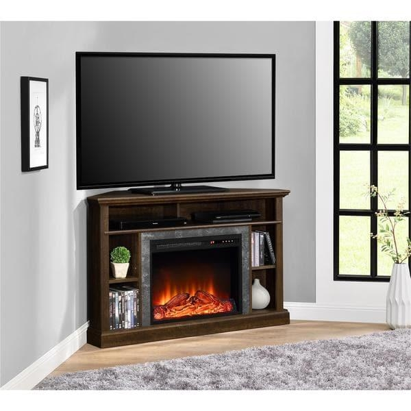 Altra Overland Contemporary Electric Fireplace Corner 50 Inch Tv For Best And Newest 50 Inch Fireplace Tv Stands (Image 2 of 20)