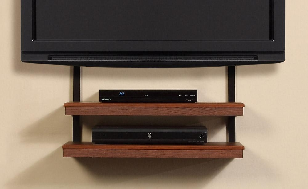 Altra Quick Mount Wall Tv Stand In Most Recent Wall Mounted Tv Stand With Shelves (Image 1 of 20)