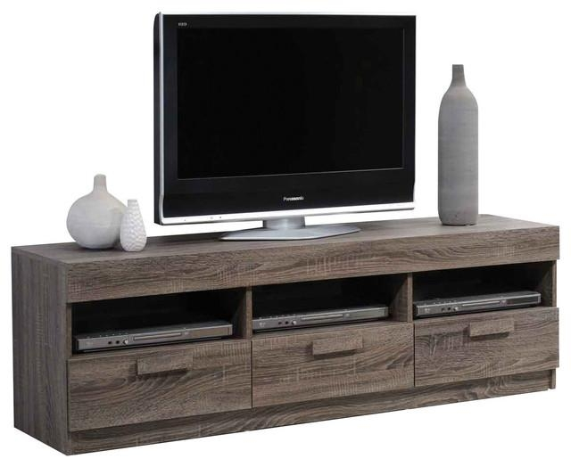 Alvin Tv Stand, Rustic Oak – Transitional – Entertainment Centers Inside Most Current Oak Veneer Tv Stands (Image 5 of 20)