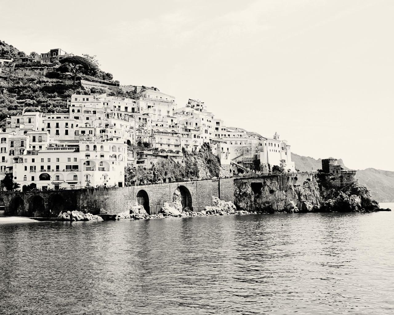 Amalfi Photography Black And White Italy Photography Inside Black And White Italian Wall Art (Image 4 of 20)