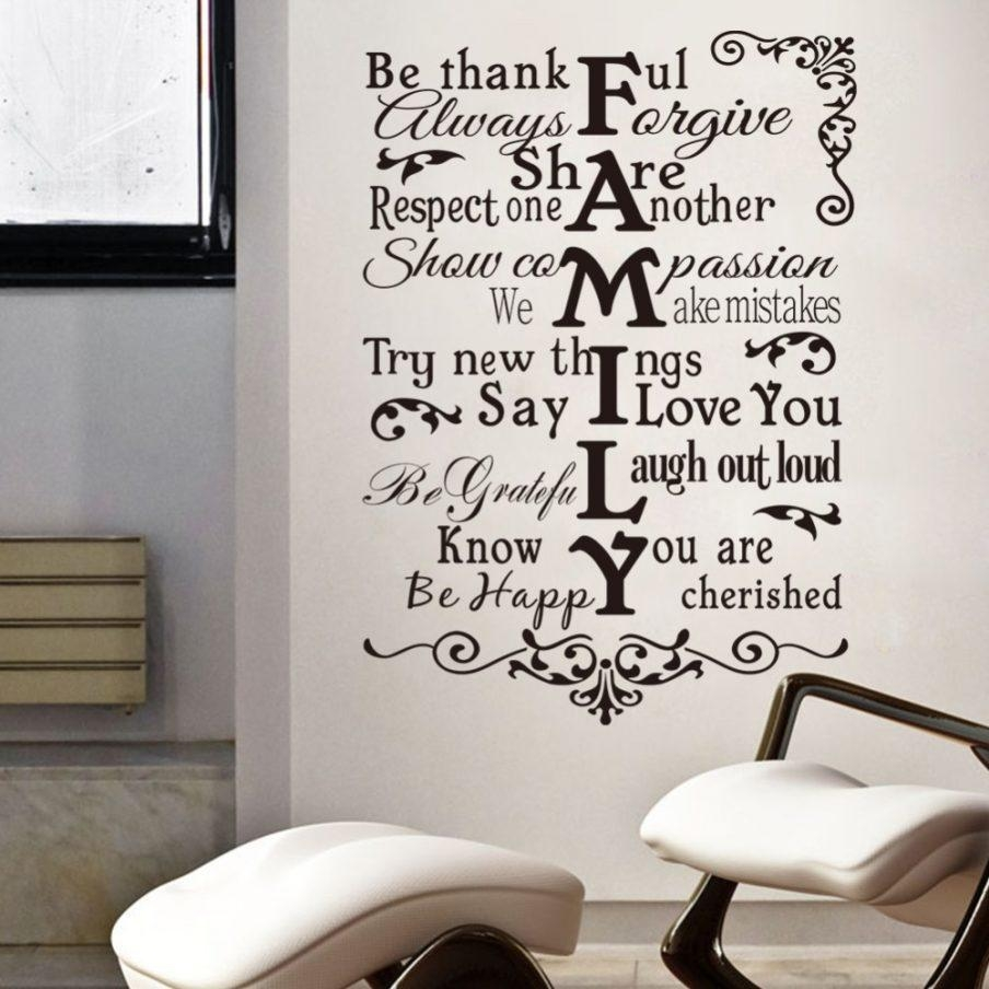 Amazing Family Tree Wooden Wall Art In This House Vinyl Family For Family Rules Canvas Wall Art (View 18 of 20)