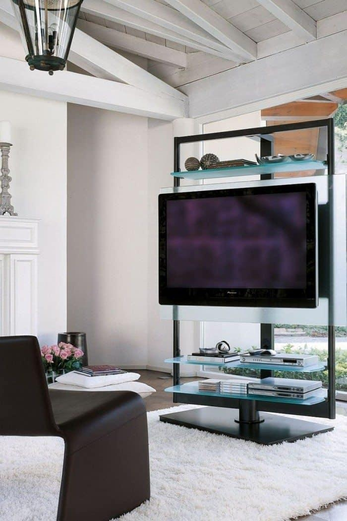 Amazing Freestanding Tv Stand And Glass Shelves – Useful And With Most Current Freestanding Tv Stands (Image 1 of 20)