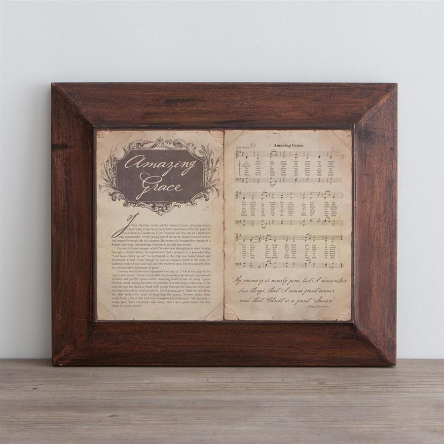 Amazing Grace, Story & Hymn - Wall Art | Dayspring with regard to Christian Framed Wall Art