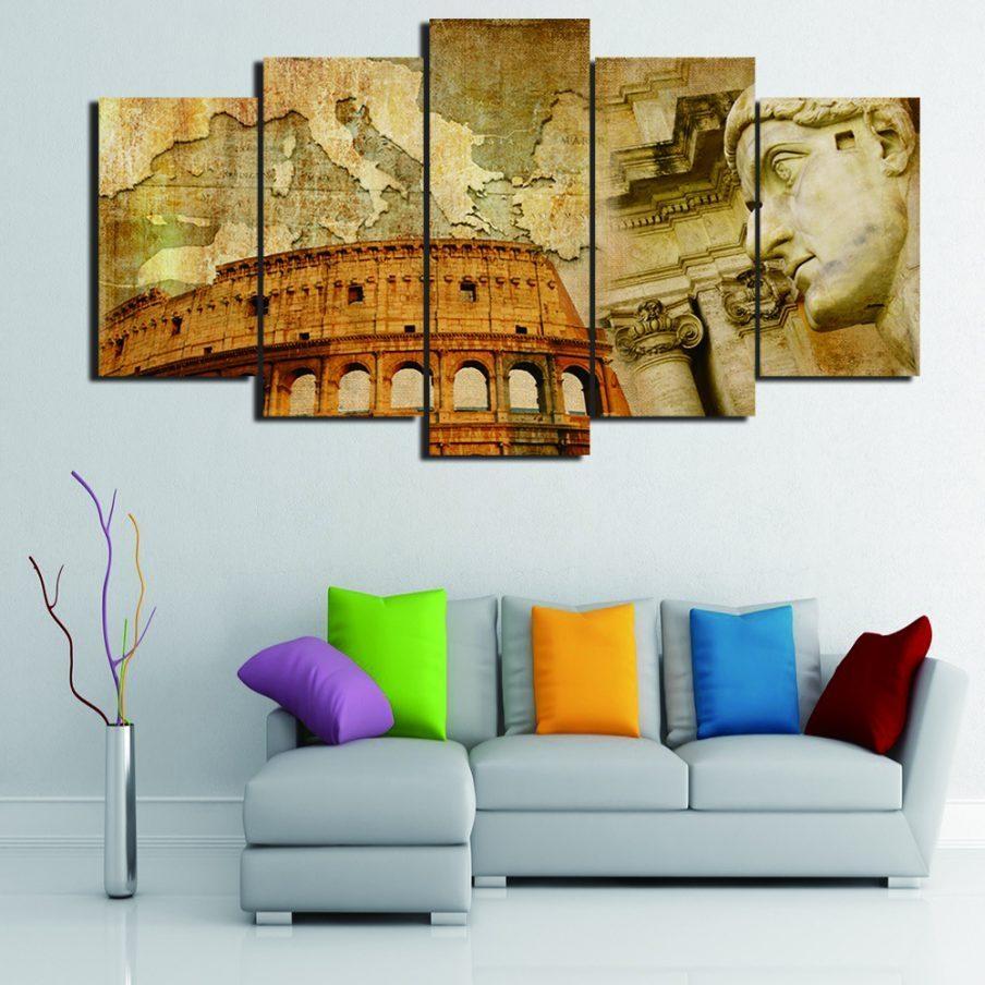 Amazing Italian Wall Art Prints Early Spring Canvas Wall Italian Regarding Italian Wall Art Tiles (Image 2 of 20)