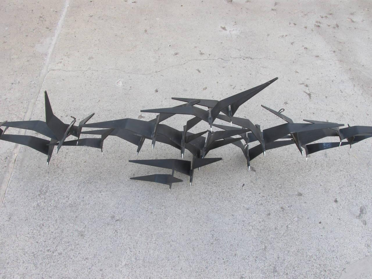 Amazing Metal Wall Art Birds On A Branch Curtis Jere Birds In With Metal Wall Art Birds In Flight (Image 2 of 20)