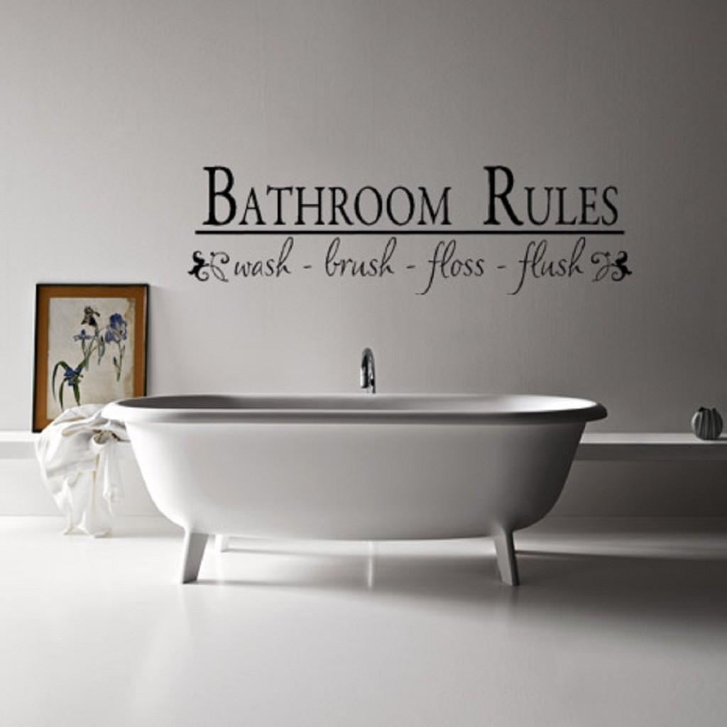 Amazing Of Pinterest Bathroom Wall Decor Ideas Modern Ide #2586 Inside Art For Bathrooms Walls (Image 1 of 20)