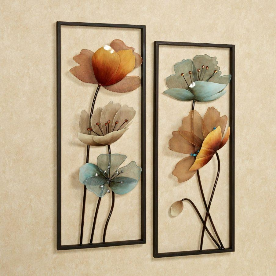 Amazing Silver Metal Wall Art Flowers Flower Metal Wall Art Trendy Pertaining To Silver Metal Wall Art Flowers (View 3 of 20)