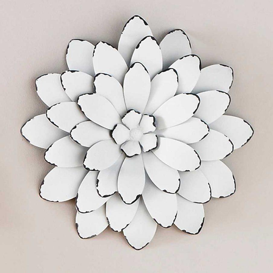 Amazing Silver Metal Wall Art Flowers Ginkgo Breeze Metal Wall With Regard To Silver Metal Wall Art Flowers (Image 3 of 20)