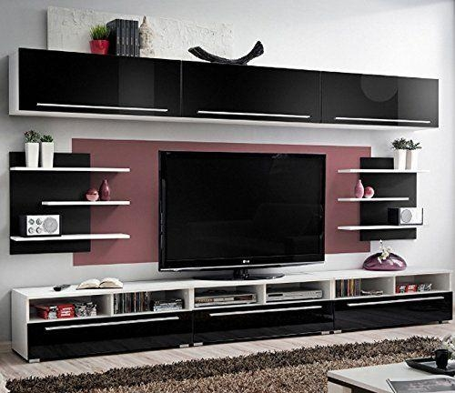 Amazon – Conte Contemporary Wall Unit – Modern Style Tv Stands With Most Recently Released Modular Tv Stands Furniture (View 4 of 20)