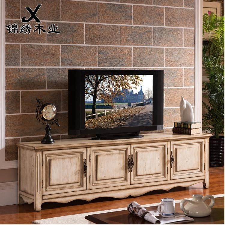 American Country Style Small Apartment Wall Audiovisual Cabinet Tv Within Most Current Country Style Tv Cabinets (Image 2 of 20)
