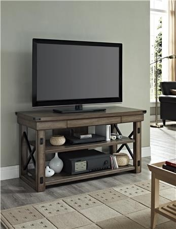 Ameriwood Furniture | Altra Furniture Rustic Tv Console With Metal Intended For Most Popular Reclaimed Wood And Metal Tv Stands (Image 2 of 20)