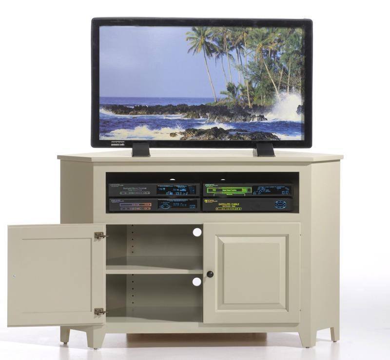 Amish Economy Corner Tv Stand Regarding Best And Newest Corner Tv Tables Stands (Image 4 of 20)