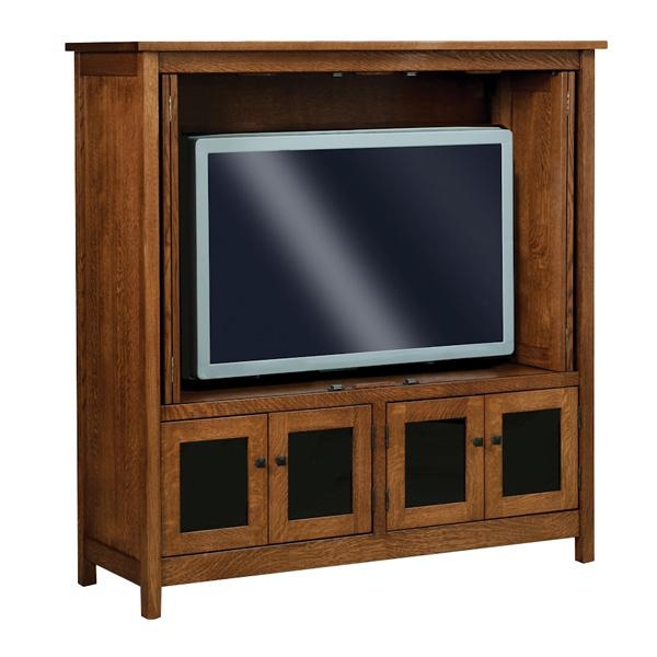 Amish Entertainment Centers, Amish Furniture | Shipshewana Throughout Recent Enclosed Tv Cabinets With Doors (Image 3 of 20)