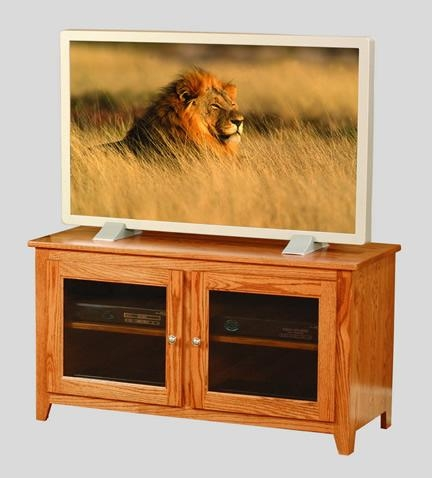 Amish Family V Stand Pertaining To Most Recently Released Wooden Tv Stands With Glass Doors (View 8 of 20)