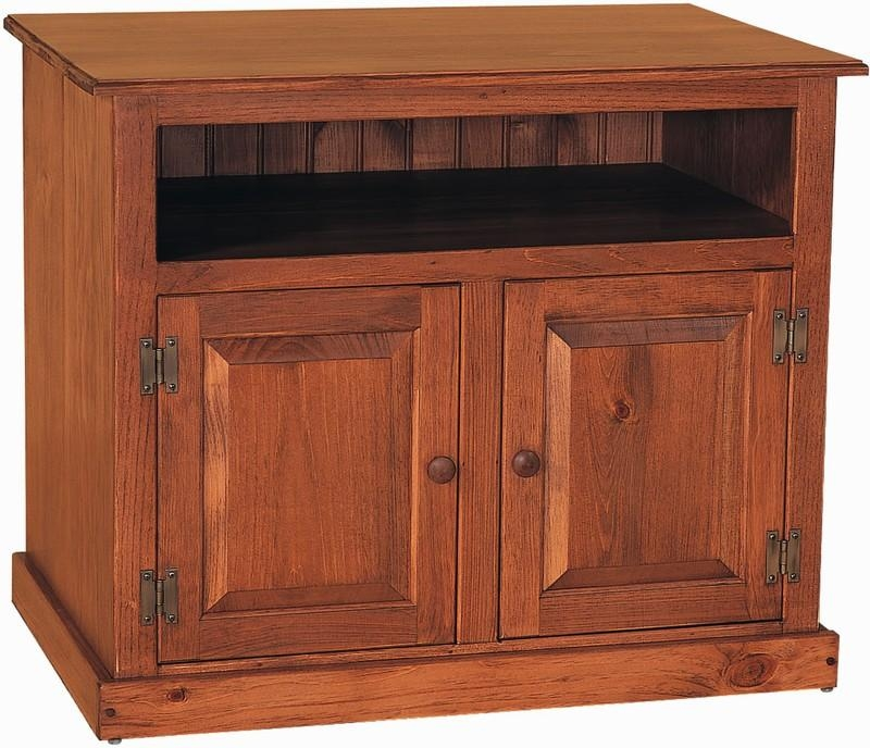 Amish Pine Wood Small Tv Stand Intended For Recent Small Tv Stands (Image 5 of 20)