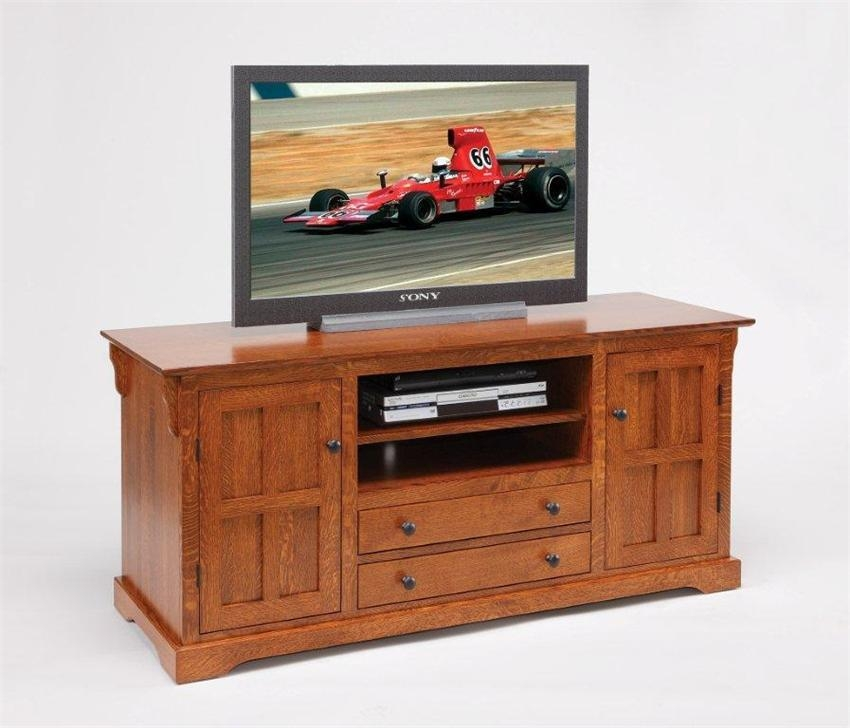 """Amish Super Storage 60"""" Tv Stand Intended For Latest Tv Stands With Drawers And Shelves (Image 3 of 20)"""