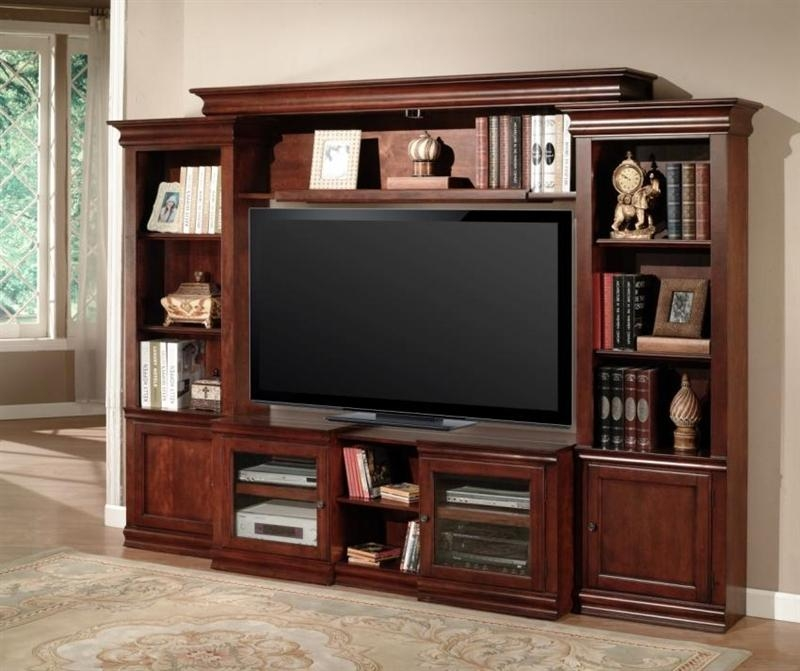 Amor 43 60 Inch Tv 4 Piece Expendable Premier Wall Unit In Vintage Within Most Recently Released 60 Inch Tv Wall Units (Image 5 of 20)