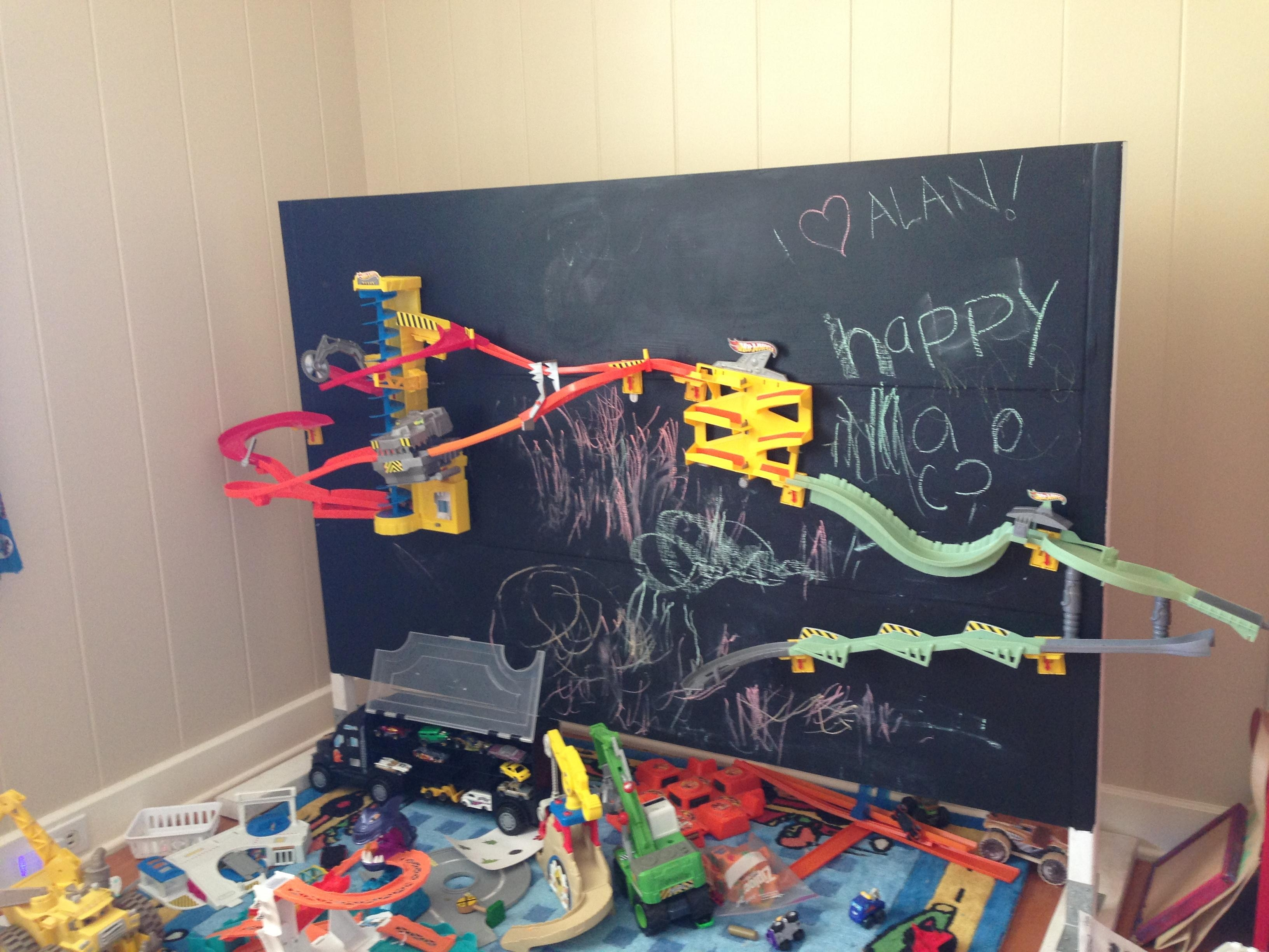 Ana White | Hot Wheels Wall Tracks Wall – Diy Projects Intended For Hot Wheels Wall Art (Image 4 of 20)