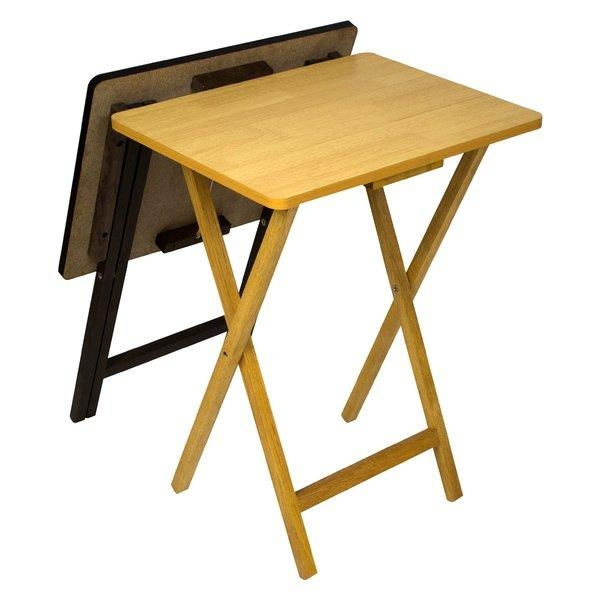 Andover Mills Ivana Folding Tv Tray Table Set & Reviews | Wayfair In Most Current Folding Tv Tray (Image 1 of 20)