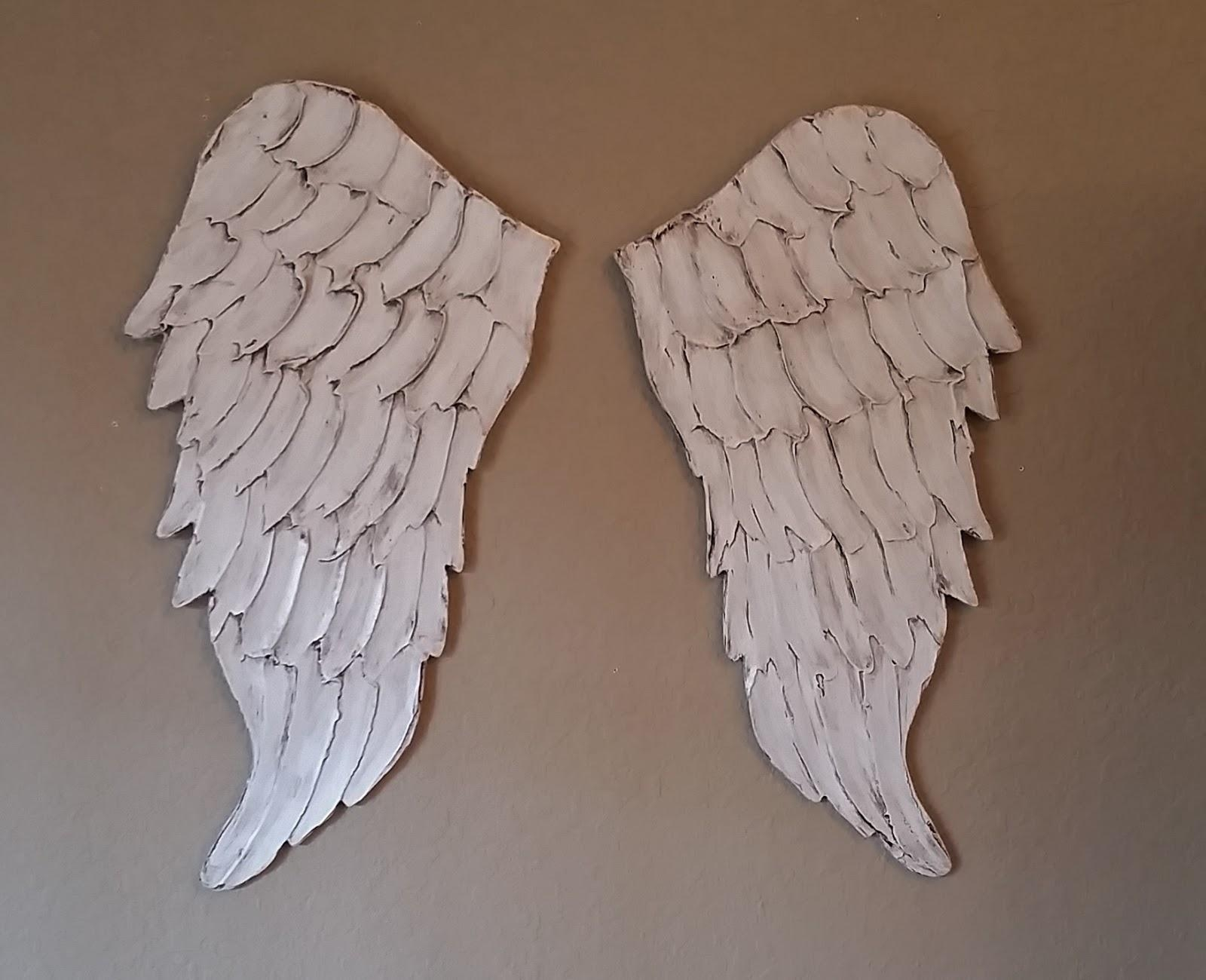 Angel Wing Wall Art, Carved Wood Look | Lucy Designs With Regard To Angel Wing Wall Art (Image 2 of 20)