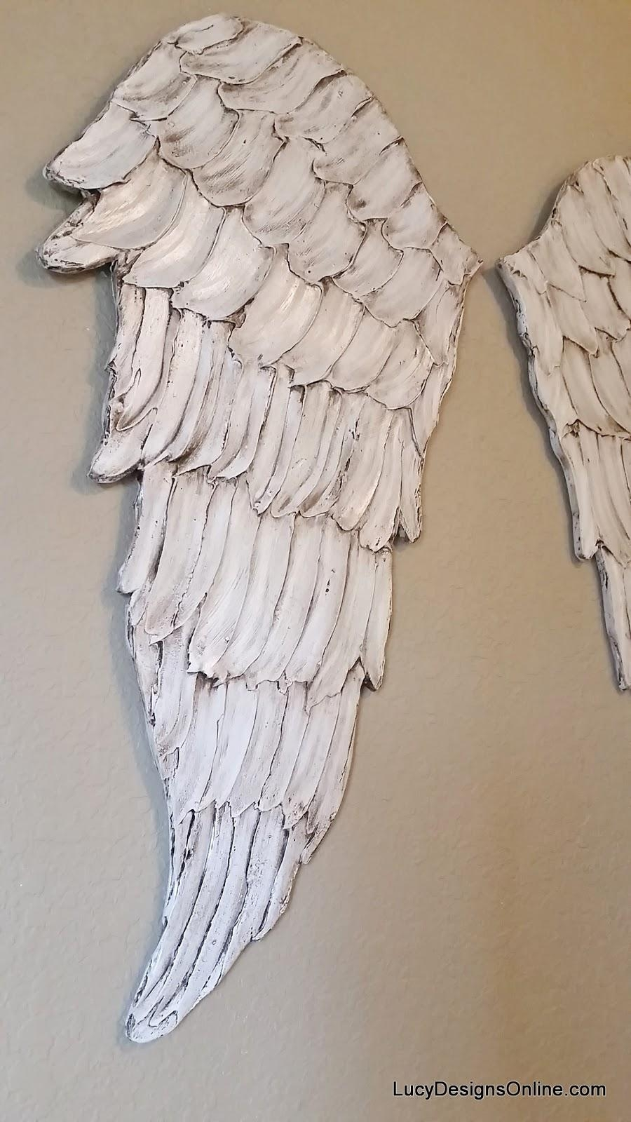 Angel Wings Textured Wood, Wall Art, Carved Wood Look, Angel Wing Pertaining To Angel Wing Wall Art (Image 5 of 20)