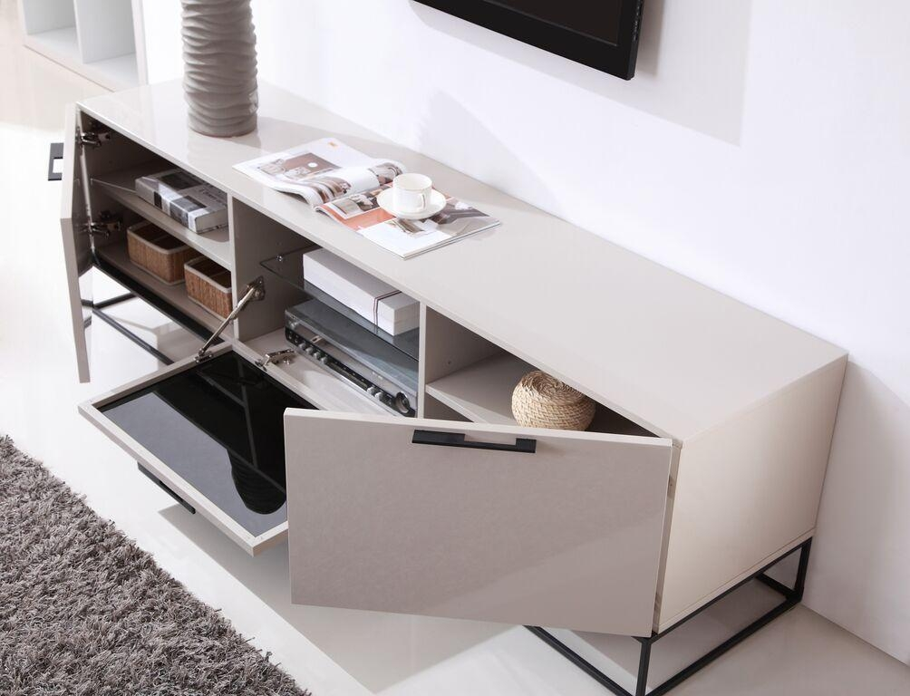 Animator Tv Stand | High Gloss Cream, B Modern – Modern Manhattan Within Most Current Cream Gloss Tv Stands (Image 4 of 20)