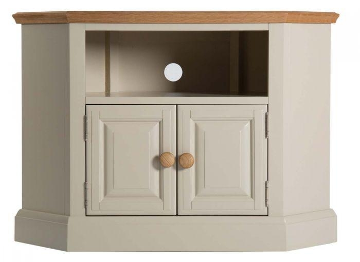 Annecy Painted Oak Corner Tv Unit Pertaining To Most Recently Released Painted Corner Tv Cabinets (Image 1 of 20)