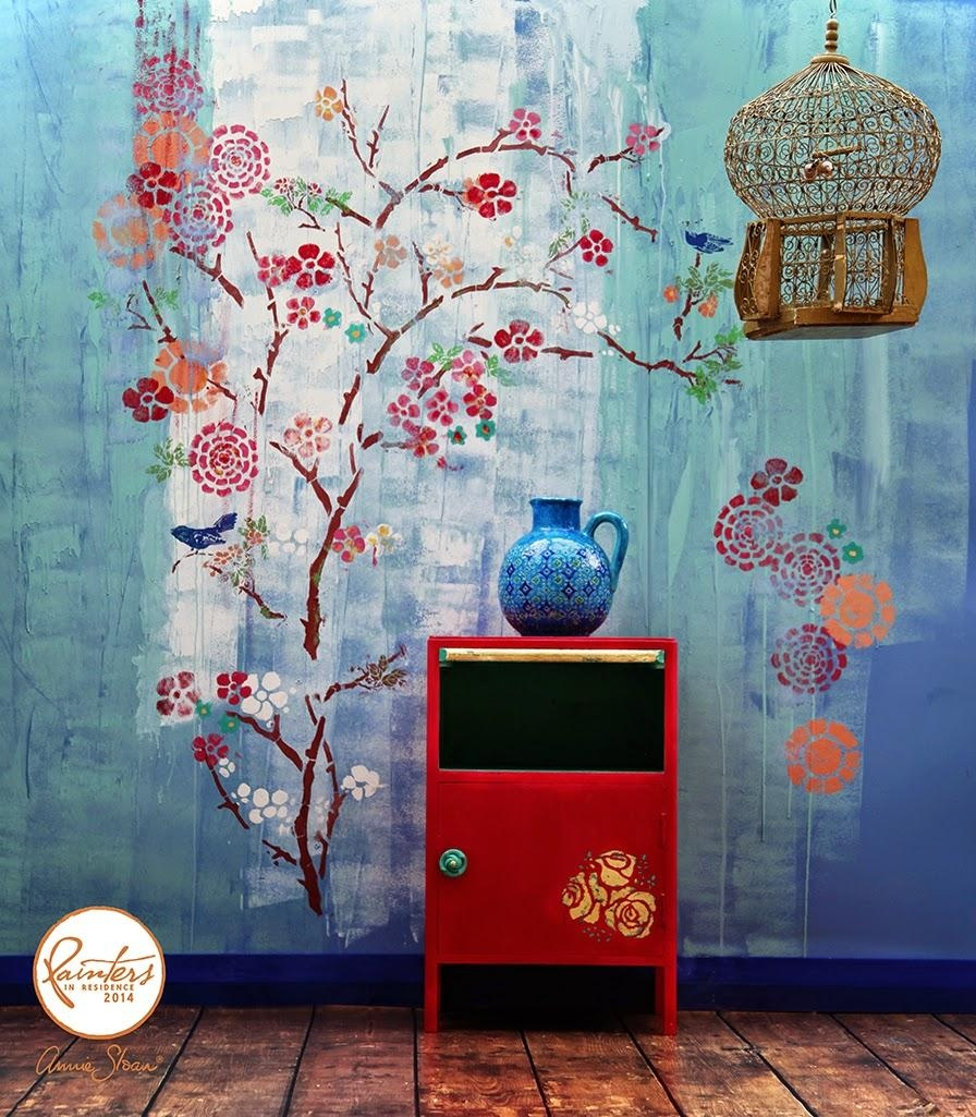Annie Sloan • Paint & Colour: Janice Issitt's Chinese Inspired With Regard To Wall Art Teal Colour (Image 2 of 20)