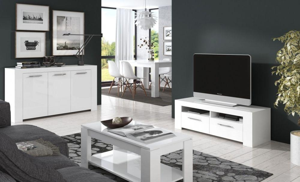 Ansel Living Room Furniture Set Tv Unit Sideboard Coffee Table Regarding 2017 Coffee Table And Tv Unit Sets (View 20 of 20)