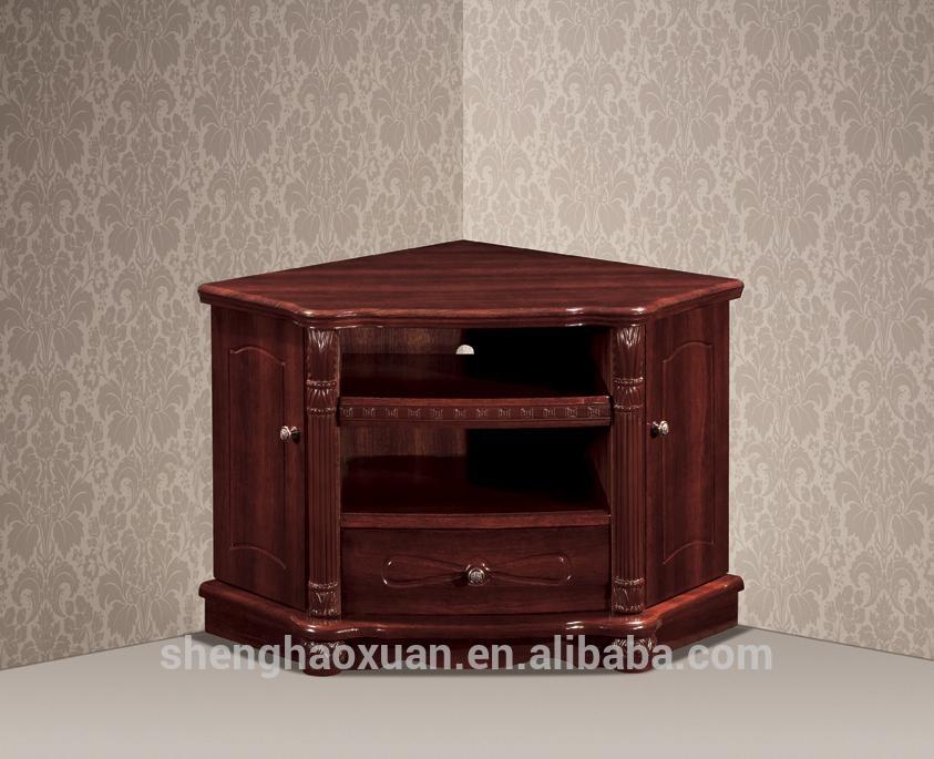 Antique Home Furniture Corner Tv Stands Wood Led Tv Table Design Inside Latest Corner Wooden Tv Stands (View 13 of 20)