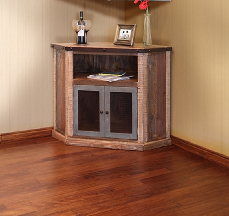 Antique Multi Color Corner Tv Stand | Tv Stand | Seat N Sleep Within Current Pine Corner Tv Stands (Image 6 of 20)