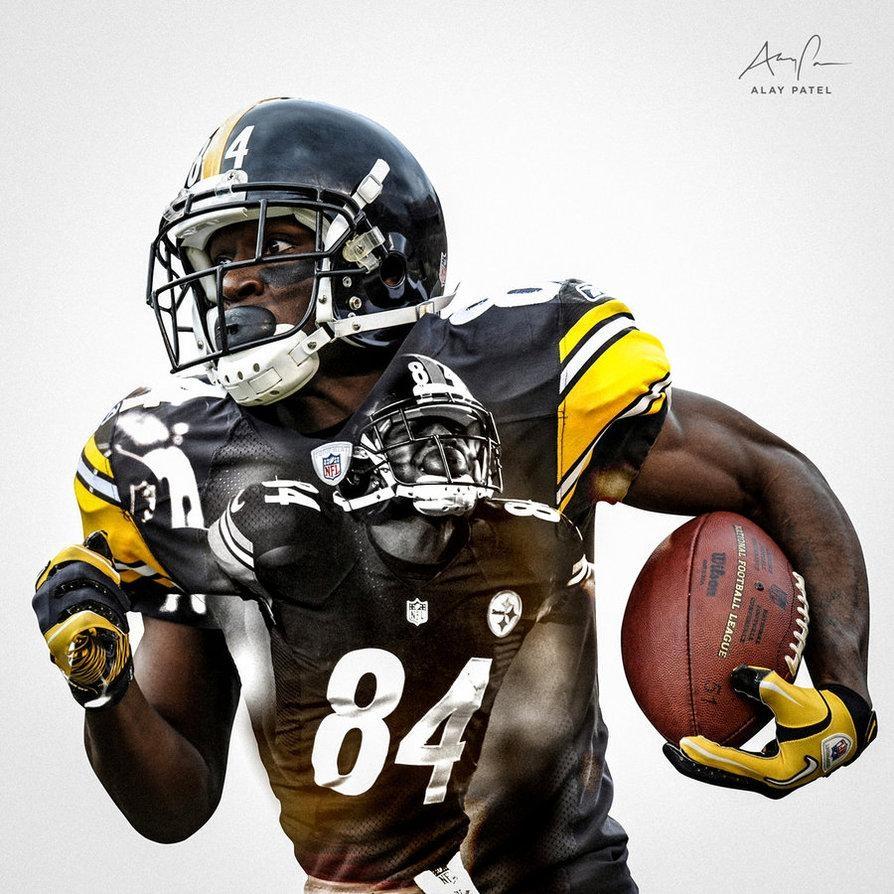 Antonio Brown – Pittsburgh Steelersalaypatel On Deviantart With Regard To Steelers Wall Art (Image 3 of 20)