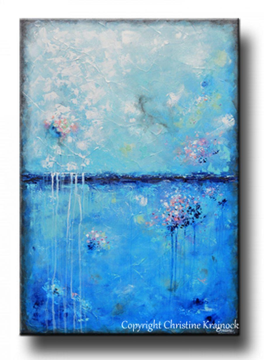 Appealing Blue Abstract Canvas Wall Art Lovely Orange And Blue For Orange And Blue Wall Art (View 10 of 20)