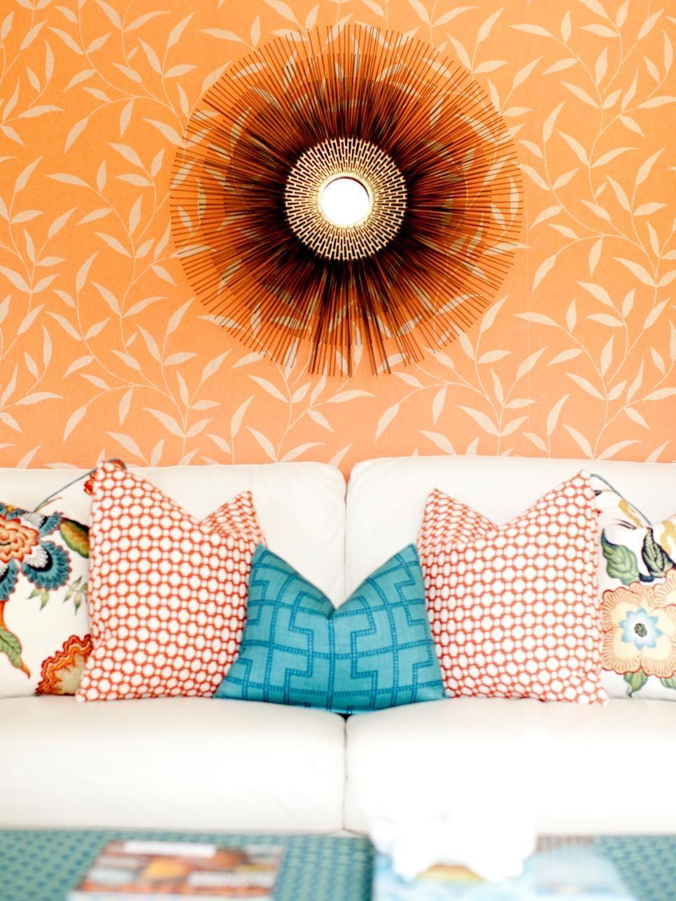 Aqua Color Palette – Aqua Color Schemes | Hgtv Inside Orange And Blue Wall Art (View 18 of 20)