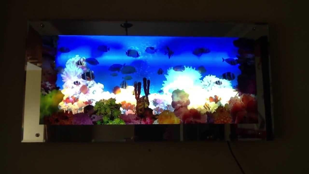 Aquarium Moving Wall Art – Youtube Within Moving Waterfall Wall Art (Image 2 of 20)