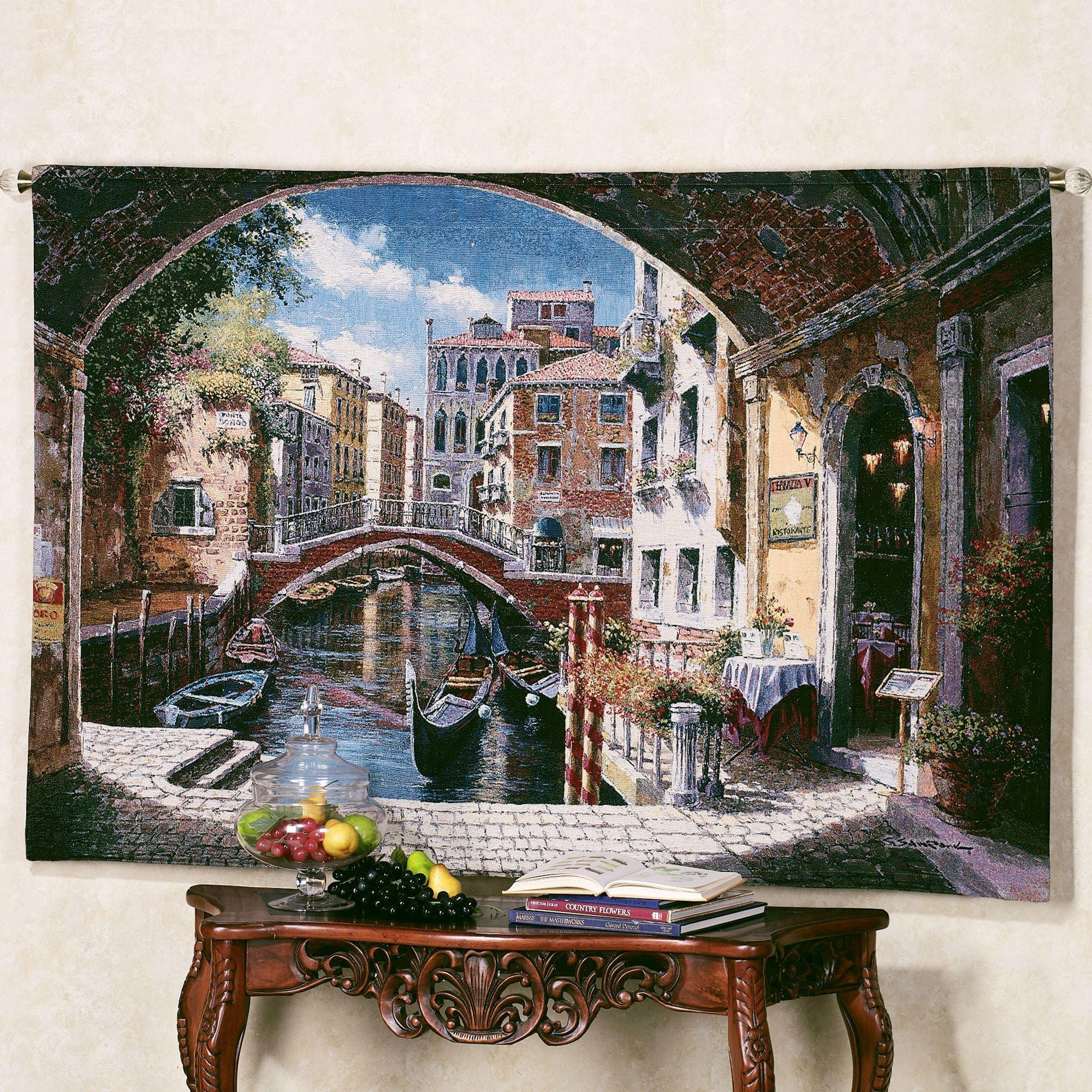 Archway To Venice Wall Tapestry With Italian Villa Wall Art (View 2 of 20)
