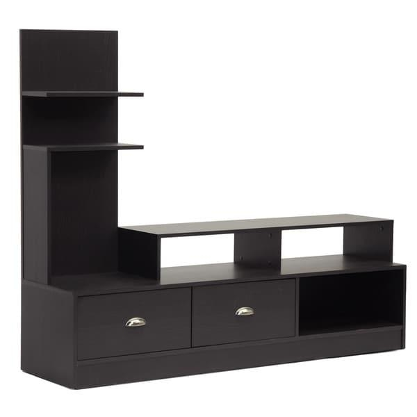 Armstrong Dark Brown Modern Tv Stand – Free Shipping Today With Most Recent Modern Tv Stands (Image 3 of 20)
