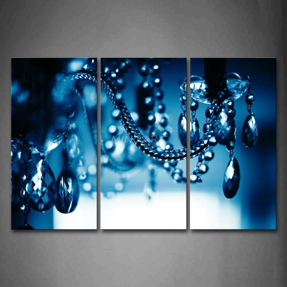 Art Colorful Rain Wall Canvas Wall Art Living Room Wall Decor Inside Metal Chandelier Wall Art (Image 3 of 20)