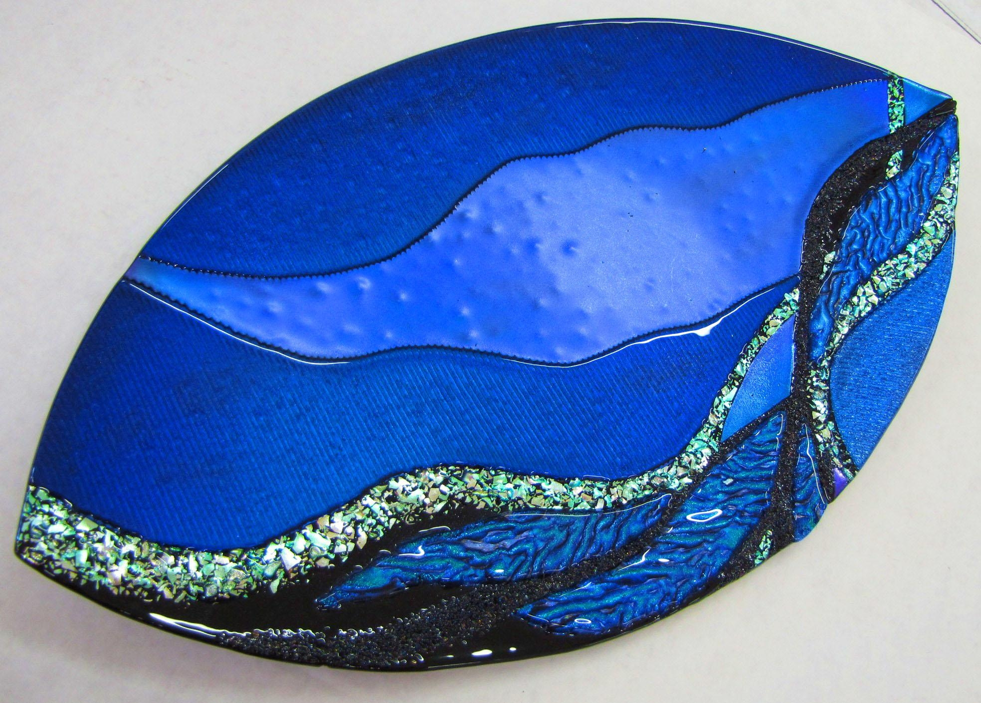 Art Glass Gallery – Teresa Kowalski Fused Glass Regarding Fused Dichroic Glass Wall Art (View 9 of 20)
