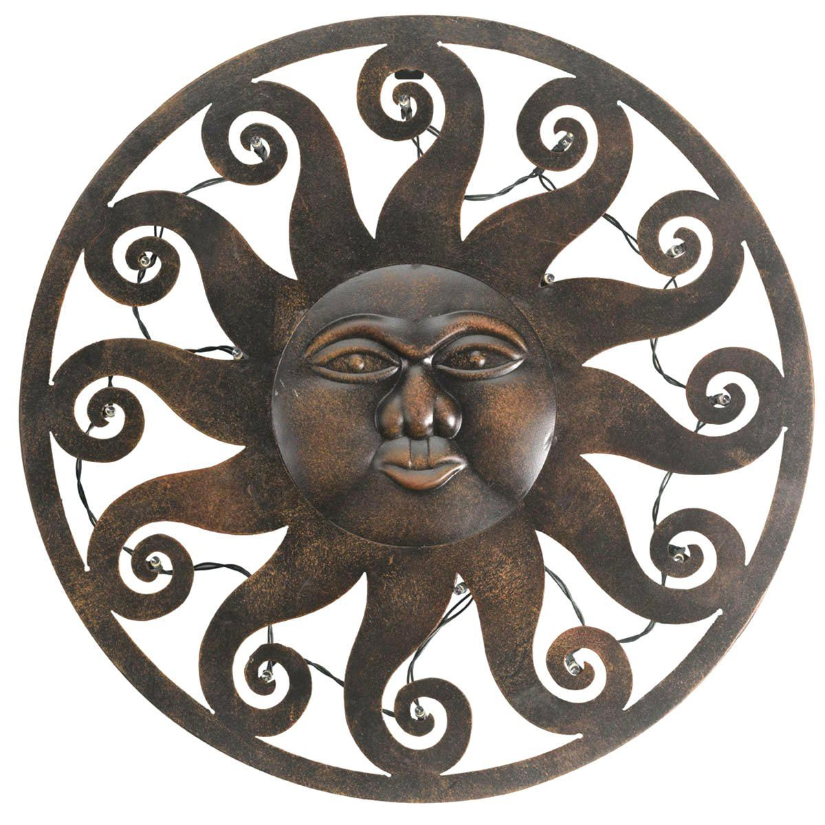 Articles With Celestial Sun Moon Wall Art Hanging Metal Plaque Tag With Sun And Moon Metal Wall Art (Image 3 of 20)
