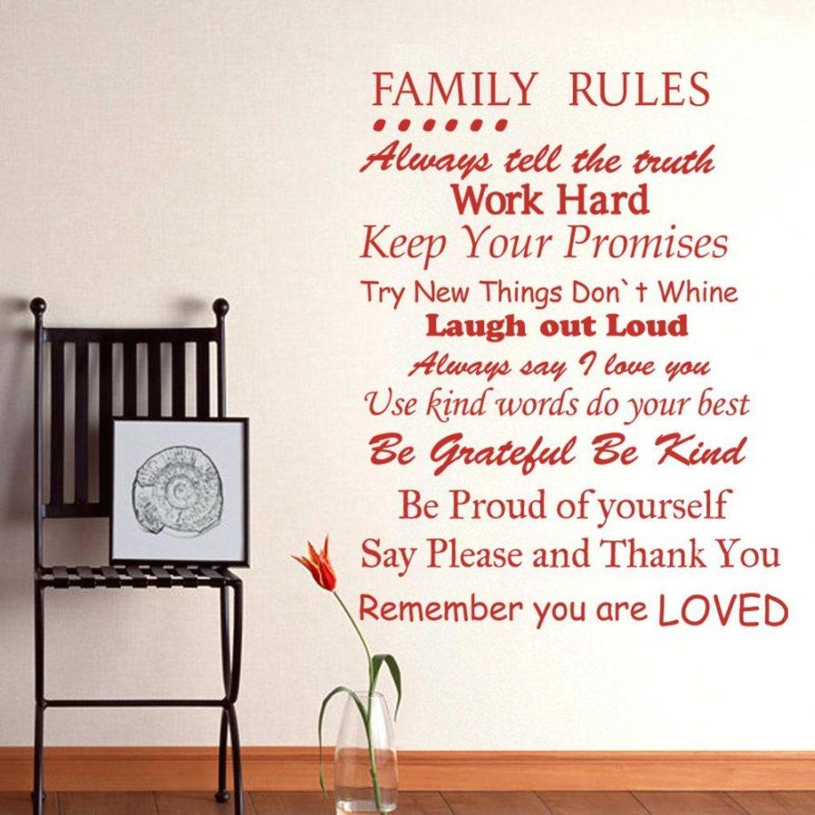 Articles With Christian Family Rules Canvas Wall Art Tag: Family Intended For Family Rules Canvas Wall Art (Image 3 of 20)