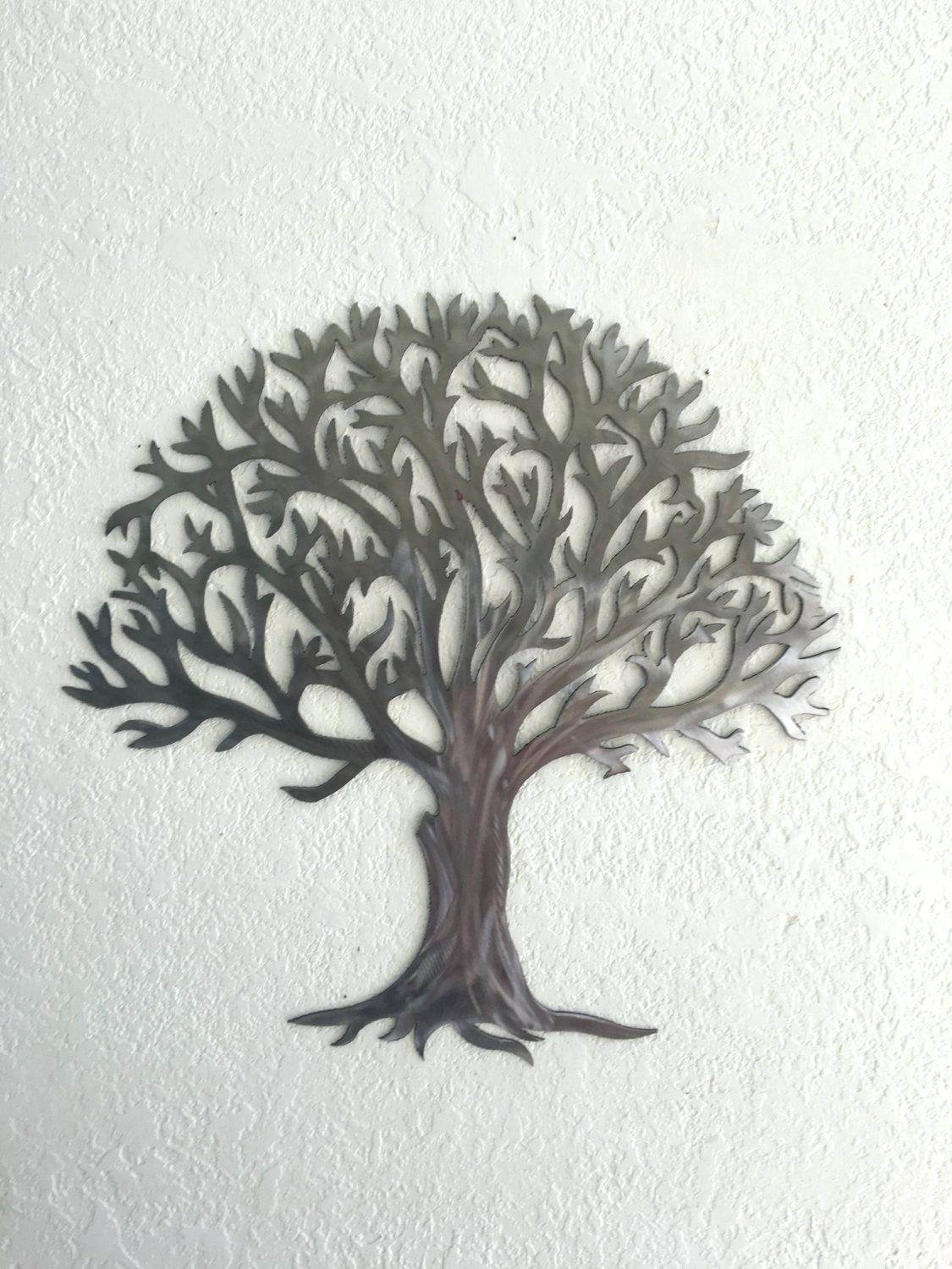 Articles With Contemporary 'large Oak Tree ' Metal Wall Art Tag For Contemporary Large Oak Tree Metal Wall Art (Image 4 of 20)