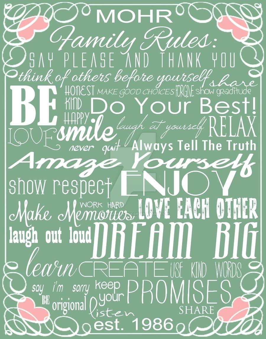 Articles With Family Rules Canvas Wall Art Uk Tag: Family Rules Throughout Family Rules Canvas Wall Art (View 16 of 20)