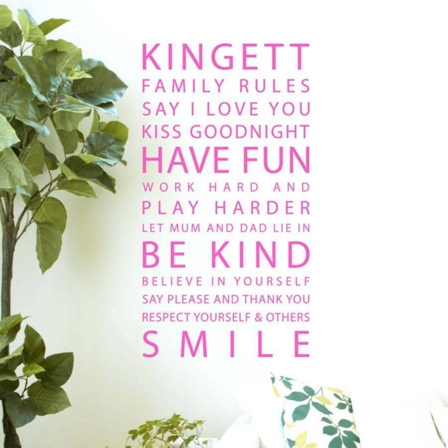 Articles With Family Rules Wall Art Personalized Tag: Family Rules Intended For Personalized Family Rules Wall Art (Image 2 of 20)