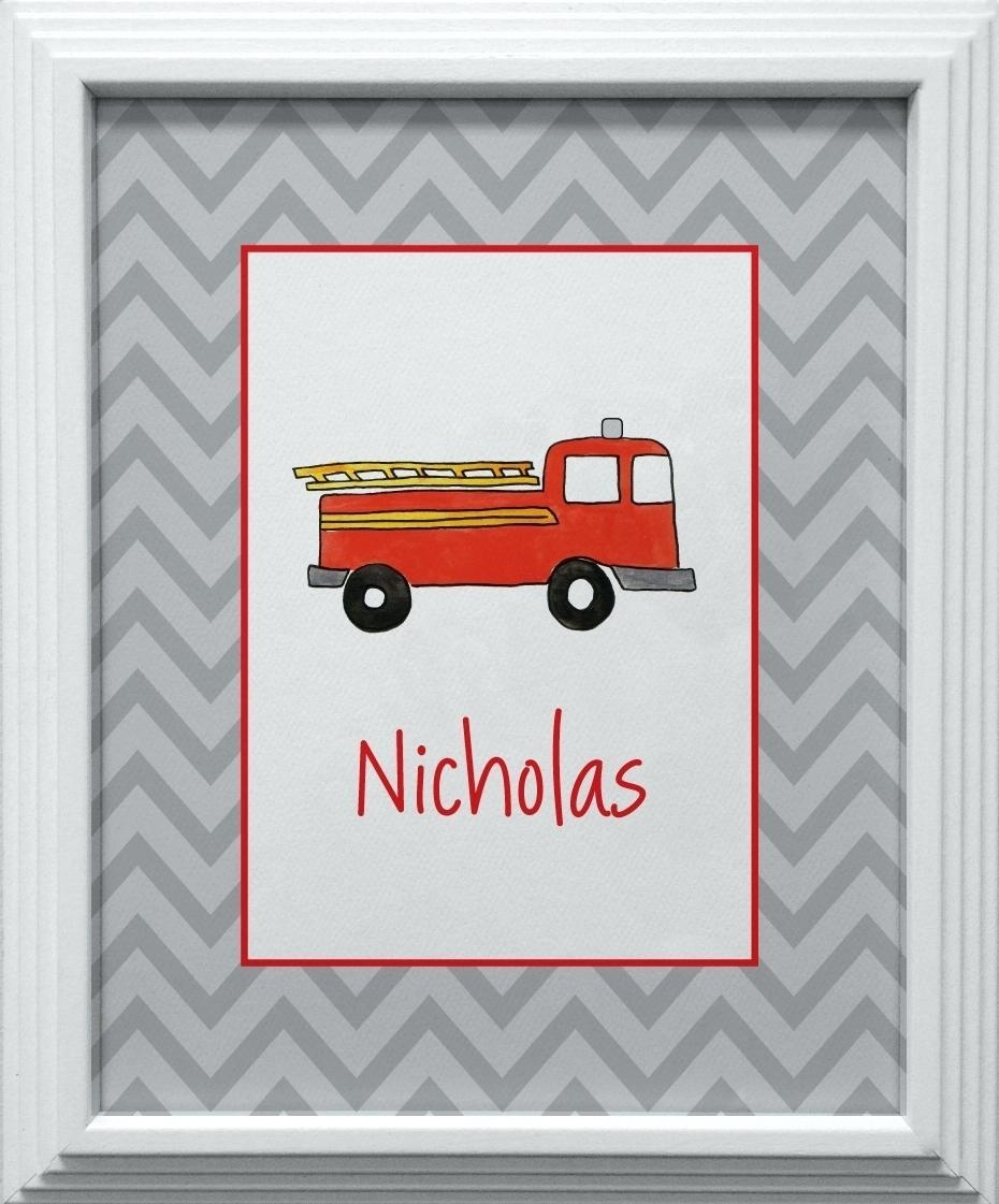 Articles With Fire Truck Photography Wall Art Tag: Fire Truck Wall For Fire Truck Wall Art (Image 2 of 20)